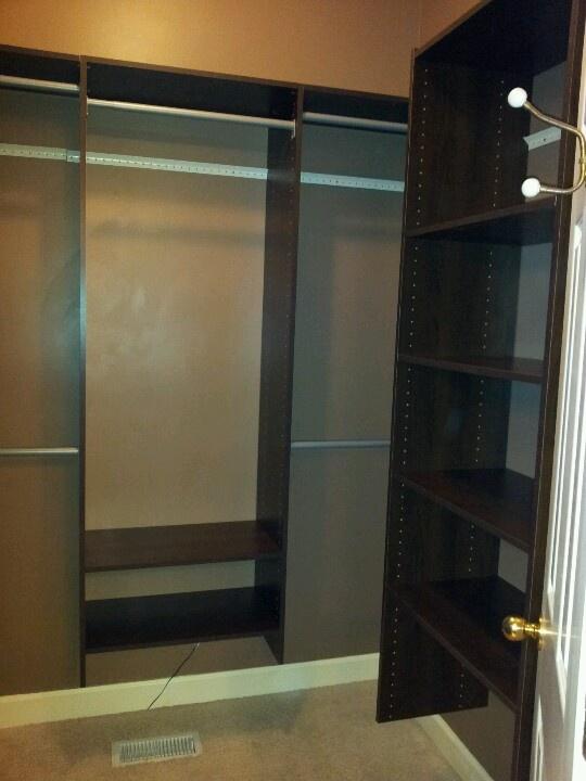Martha Stewart Closet System.
