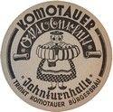 Bierdeckel der Ostgebiete  Komotauer Bürgerbräu   später  Pivovar Chomutov