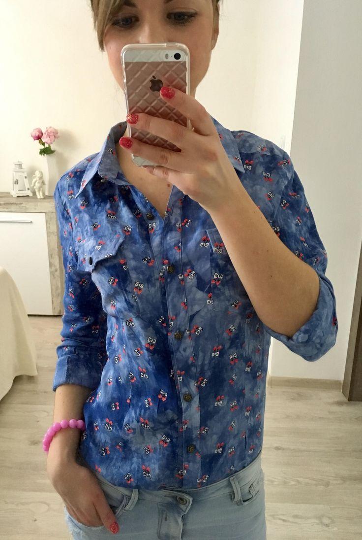 Dámska košeľa modrá CH5