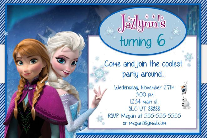 Frozen Birthday Invitation - Birthday invitation frozen theme