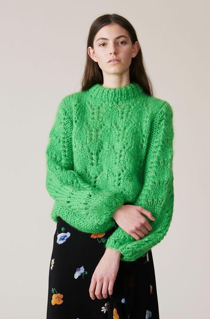 fde4f15470e8a Ganni The Julliard Mohair Pullover in Classic Green in 2019