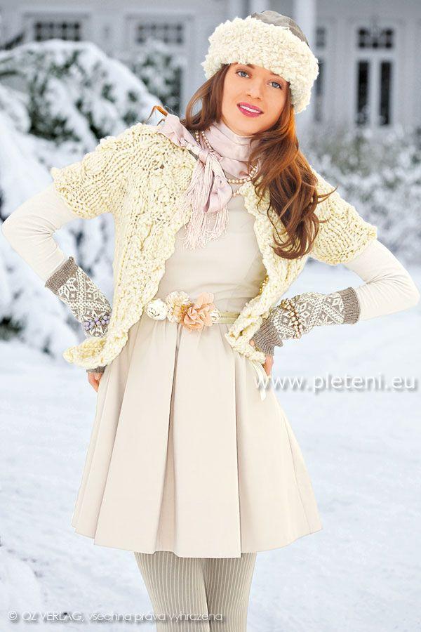 dámský ručně pletený kabátek z příze Maxima  e5136db75b