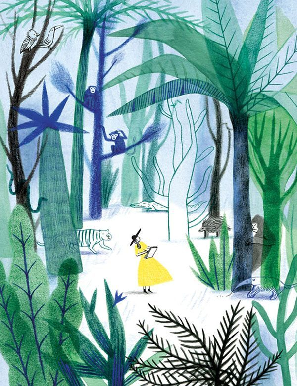 (via (134) Anne Laval | Art and Illustration | Pinterest | Illustration, Jungle Illustration and Nature)