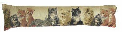 Kitten Belgian Tapestry Draught Excluder