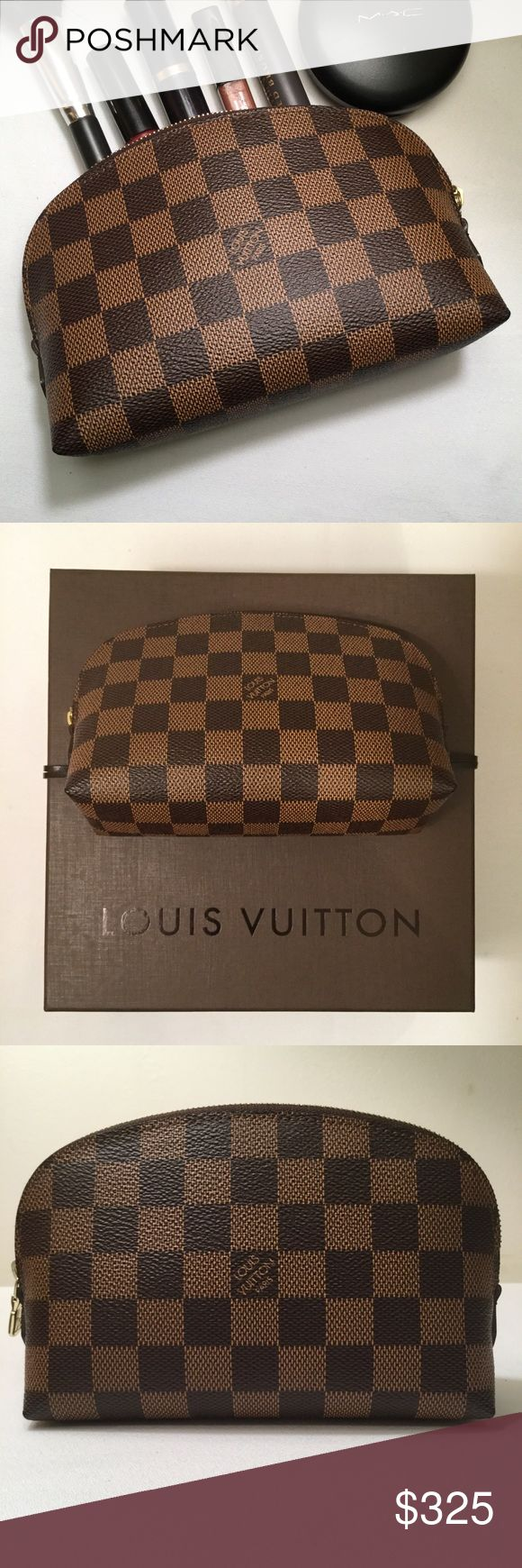 Louis Vuitton Damier Ebene Cosmetic Pouch PM Preloved