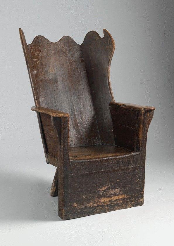 Rare Sculptural Wing Back Shepherd's Chair. c. 1770