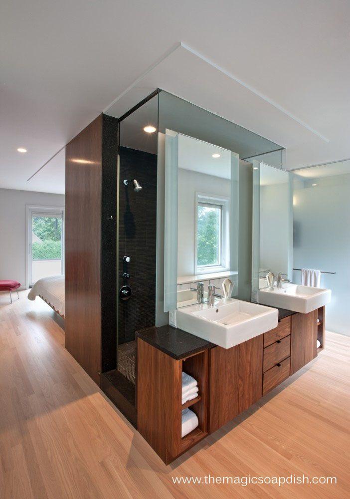 Modern Bathroom Design with open floor plan. #modern #bathroom #design