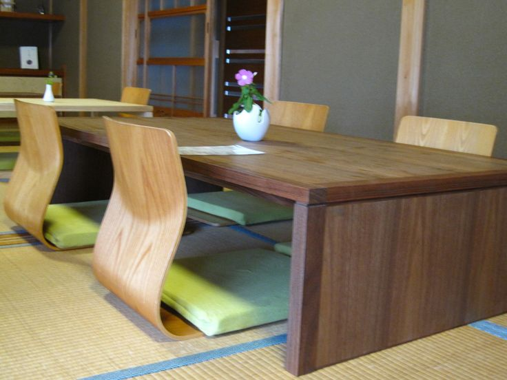 Modern japanese dining table homey pinterest for Traditional japanese furniture