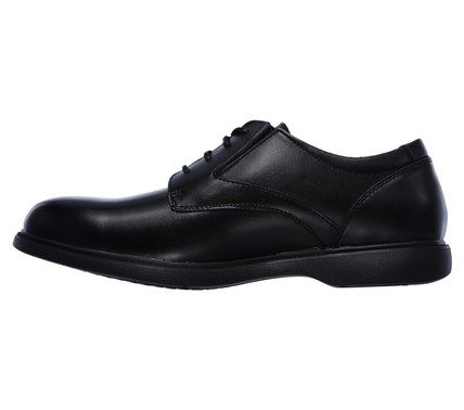 Skechers Men's Revelt Remex X-Wide Memory Foam Relaxed Fit Oxford Shoes (Black) - 10.5 2W
