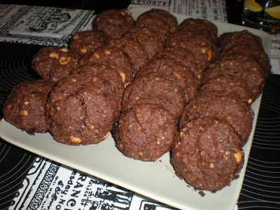 Mörk o Mat: Amerikanska choklad- och jordnötskakor