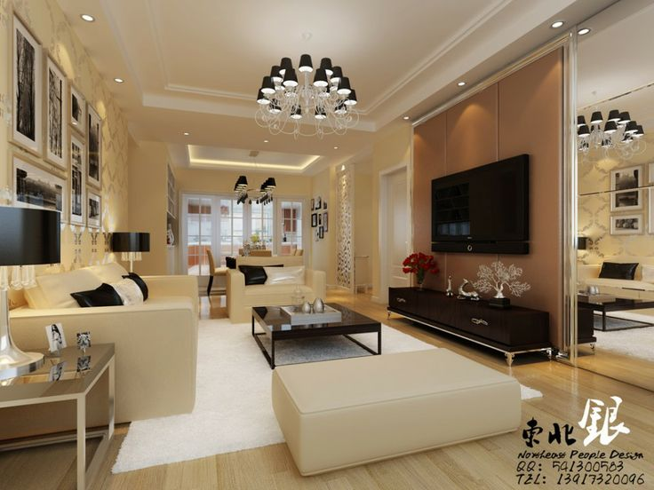 Modern And Contemporary East Meets West Decoration IdeasBlack White Chandelier Lights Above Low Asian Living RoomsBeige