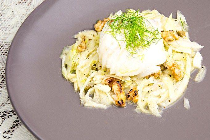 Recept Venkelsalade met kabeljauw
