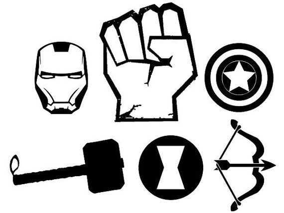 Avengers Team/Individual Character vinyl decals. 6 year life. thor hawkeye black widow iron man hulk captain america