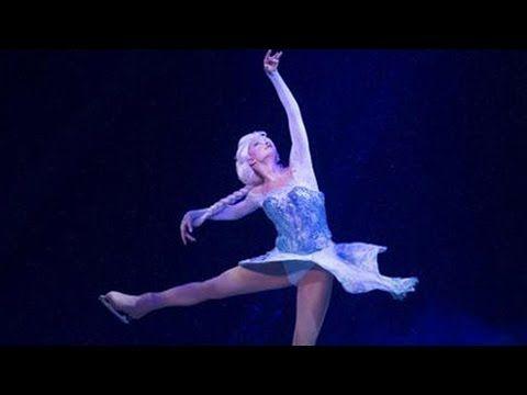 Disney on Ice...so cool! Elsa skates to Let It Go in Frozen Disney on Ice show debut