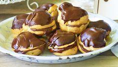 Προφιτερόλ με γέμιση σοκολάτας