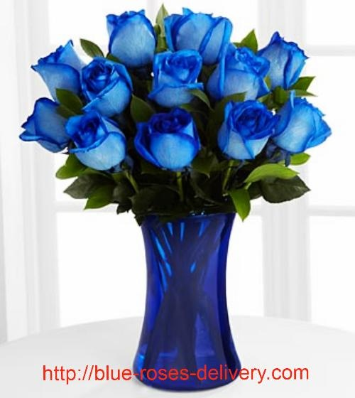 Blue Roses On