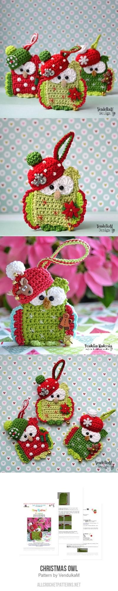 Best 25 owl crochet patterns ideas on pinterest owl crochet christmas owl crochet pattern bankloansurffo Gallery