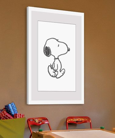 Love this Snoopy Character Framed Print on #zulily! #zulilyfinds