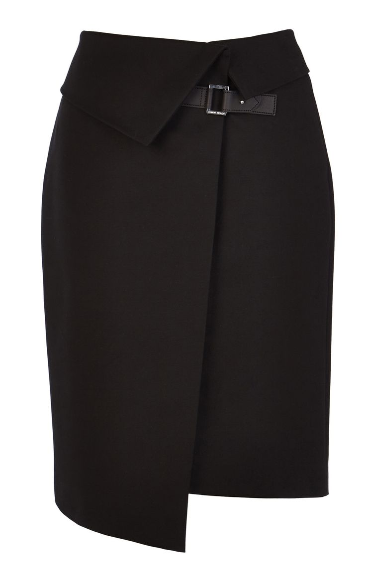 Asymmetric wrap skirt | Luxury Women's zz_criteo | Karen Millen
