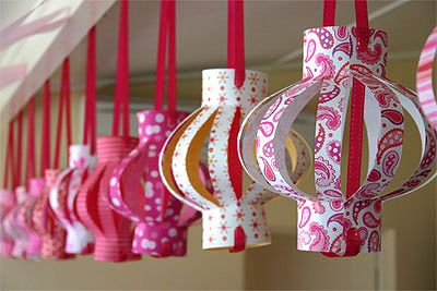 scrapbook paper lanterns - something to do with all that scrapbooking paper I have