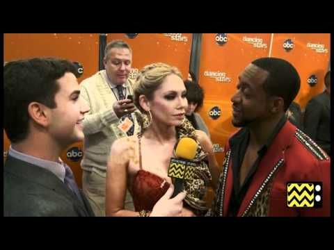AfterBuzz TV Interviews Jaleel White & Kym Johnson @ DWTS April 10th, 2012