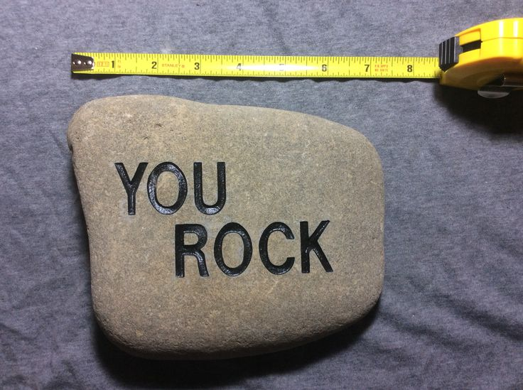 Customized river rocks available on request.
