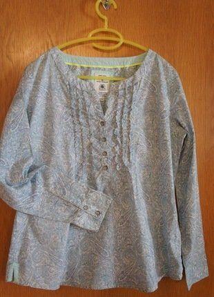 #TomTailor #Bluse #Damen #Vintage #Mode #Frühling #Muster #Kleiderkreisel http://www.kleiderkreisel.de/damenmode/blusen/139016912-turkis-weisse-bluse-von-tom-tailor