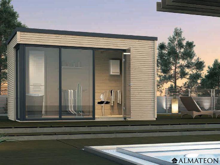 17 meilleures id es propos de abri jardin toit plat sur for Pavillon de jardin moderne
