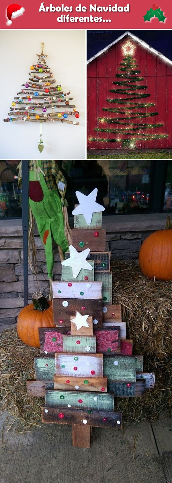 Árboles de Navidad alternativos. Ideas para árboles de Navidad diferentes.