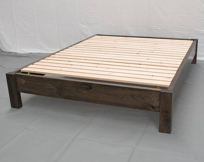 Unfinished Farmhouse Platform Bed W Headboard Traditional Platform Frame Wood Platform Reclaimed Bed Modern Urban Cottage Platform Bed Reclaimed Bed Diy Platform Bed Traditional Bed