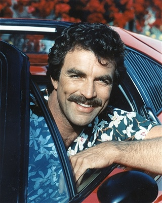 tom selleck, those dimples!!