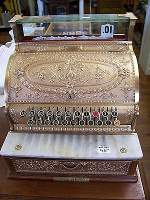 1913 Brass National Cash Register #332, Reconditioned