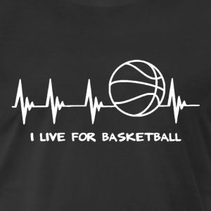 Basketball Heartbeat - Men's Premium T-Shirt
