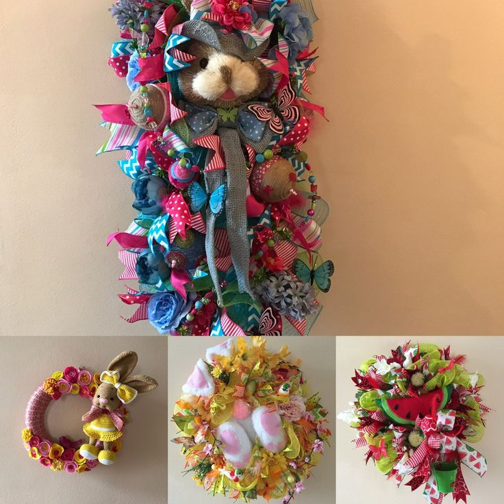Spring, summer wreaths. All available in my etsy store. Come check them out. Use coupon code SPRINGHURRAY to get 15% off. Minimum purchase 35€. Worldwide shipping.