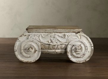 Distressed Ionic Capital Coffee Table - mediterranean - coffee tables - Restoration Hardware