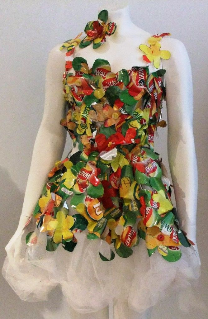 Chichester Copywriter - chip bag dress - Repurposed Fashion | Trashion | Refashion | Upcycled Fashion