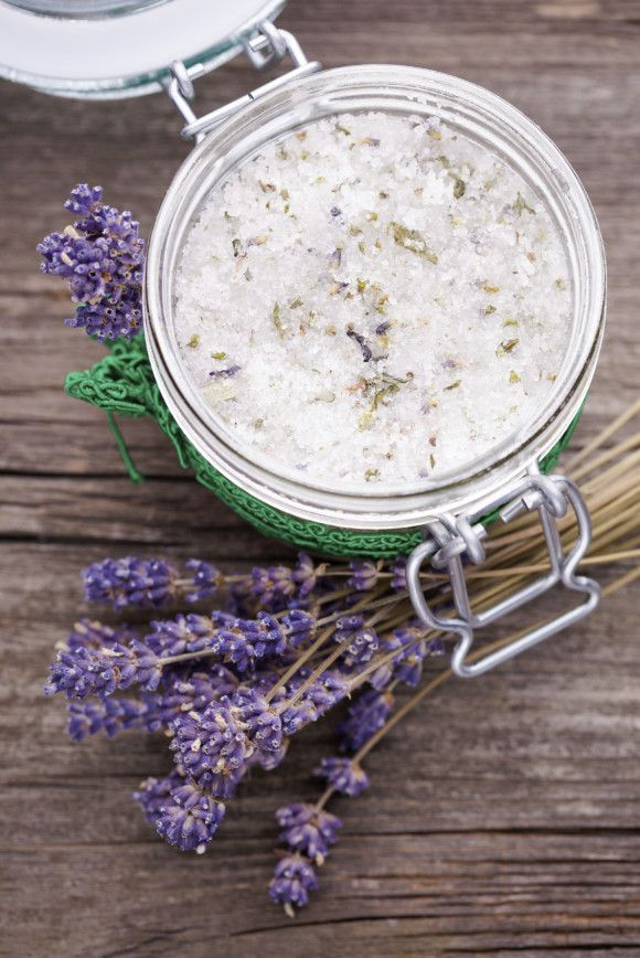 lavender and coconut body scrub, making these as Christmas gifts!