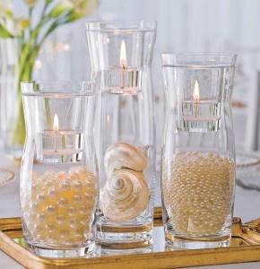 Pérolas em vasos | Decor | Bodas de Casamento | Nossas Bodas | Aniversário de casamento