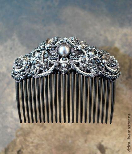 """Handmade hair clips. Fair Masters - handmade Crest """"Silver Age."""" Handmade."""