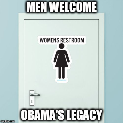 Obama's Legacy: Man's Pee on Women's Public Restroom Seat |Right Wing Humor