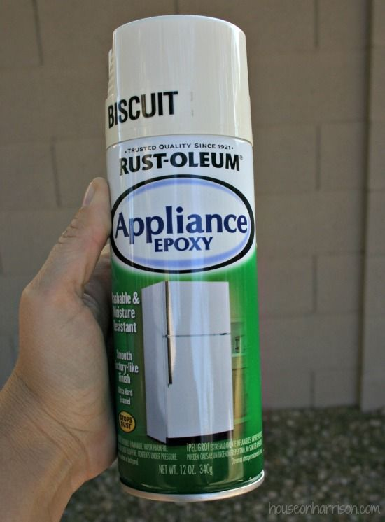 I didnt know thi sstuff existed, I can think of many purposes for this. Rustoleum Appliance Epoxy
