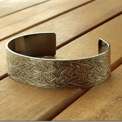 A new made-to-order item; a 935 Celtic silver cuff