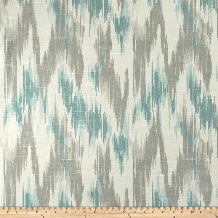 Fabrics  Home Accents Casbah Ikat Slub Opal I Fabriccom