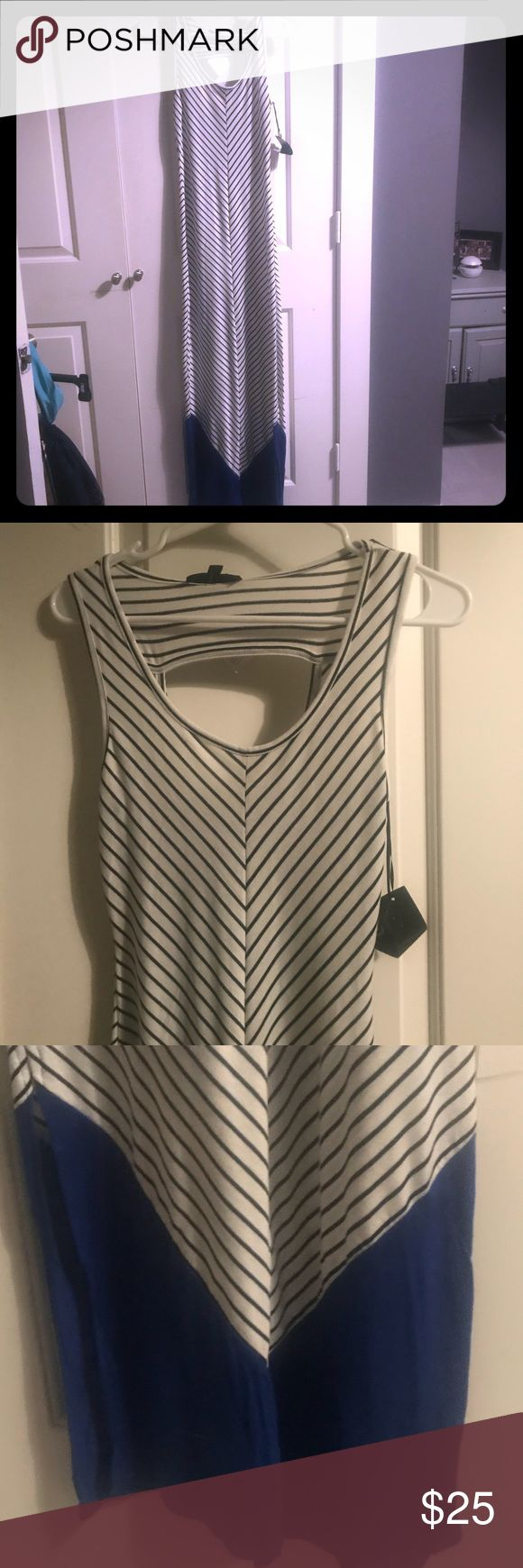 Stripped Maxi Dress Never worn, from Impressions Boutique. This dress is fitted and perfect for a beach vacation! Impressions Dresses Maxi