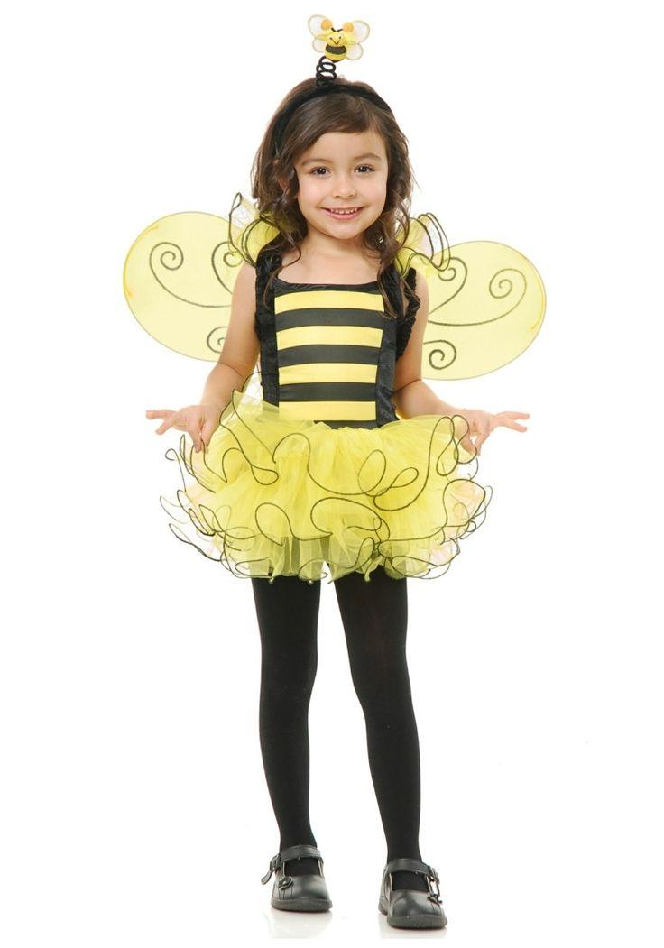 Kinder Kostüm Idee - Biene mit Tutu