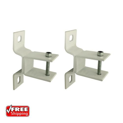ALEKO-Wall-Mounting-Brackets-For-Retractable-Awnings-Lot-Of-2-White-Brackets