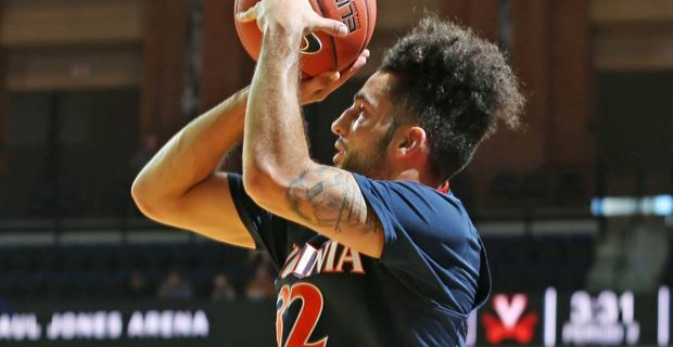 UVa playing the in the Emerald Coast Classic Finals on Saturday night, found themselves in a tight game early.