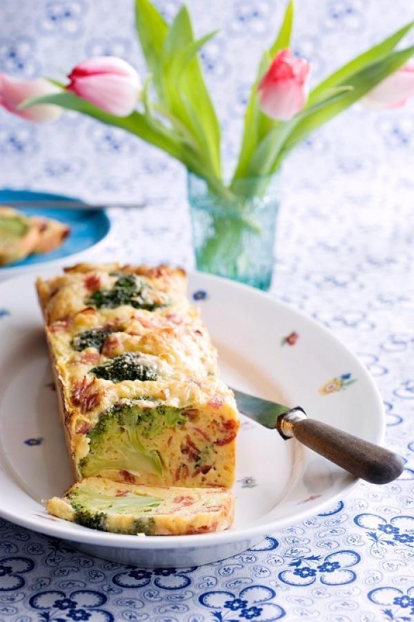 Pastel de brócoli y verduras.