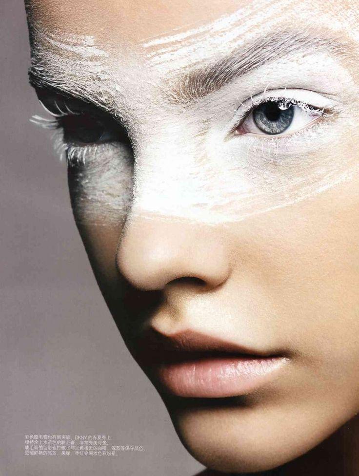 maquillage blanc, oeil