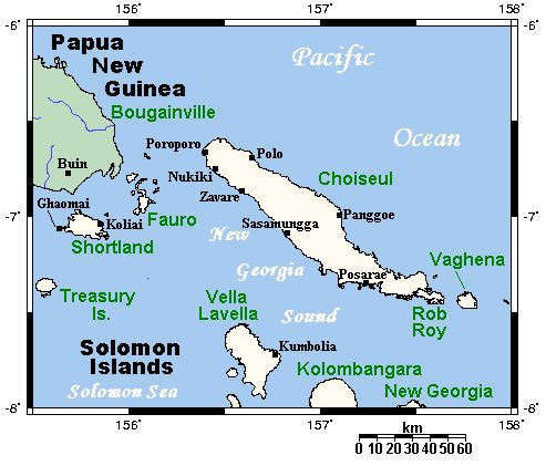 Choiseul and neighbouring islands